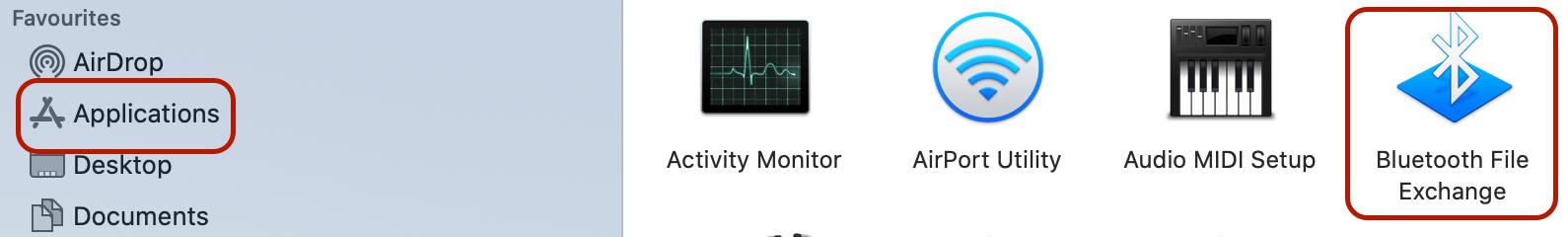 Bluetooth App in your macbook