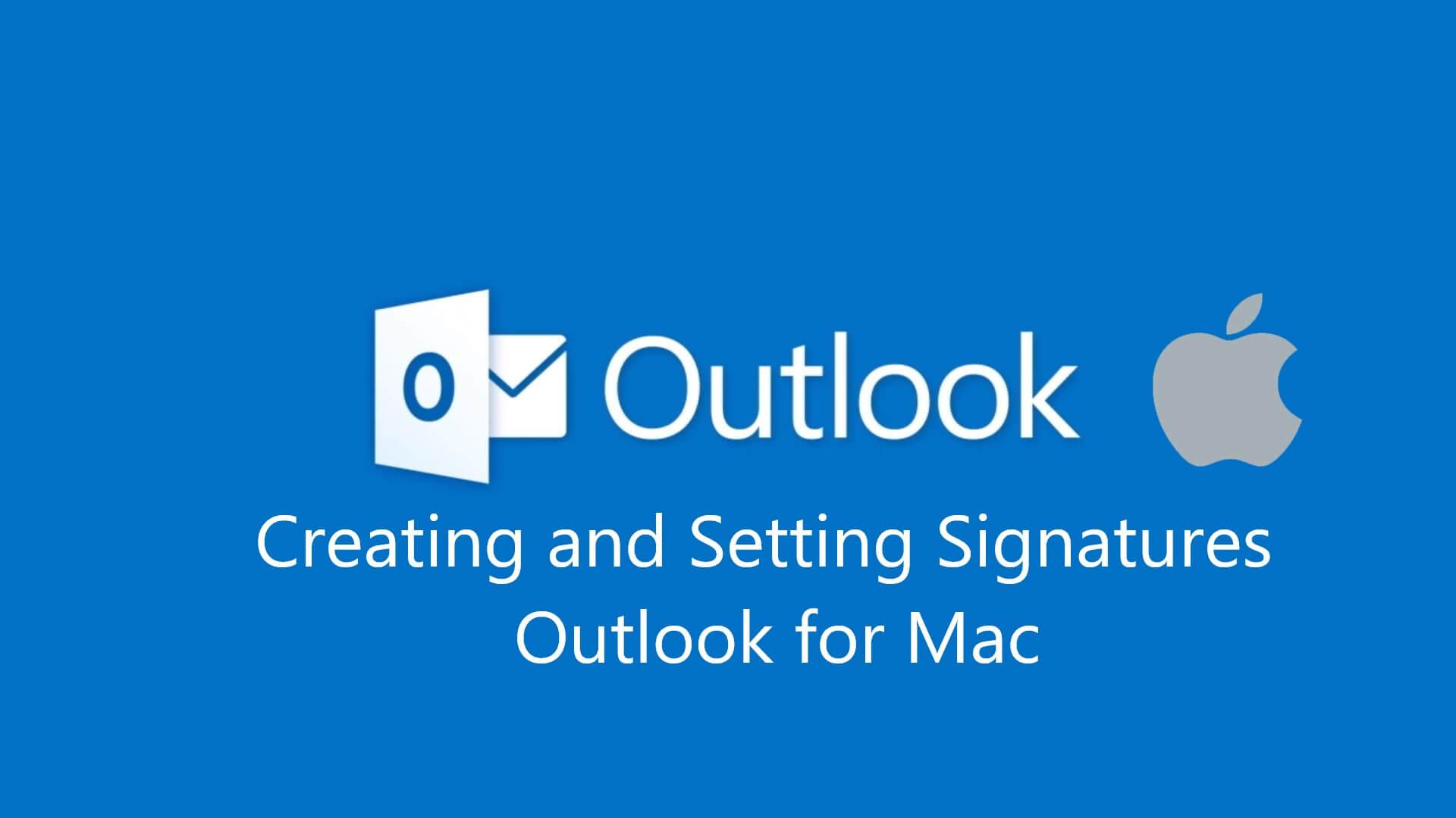 Microsoft Signature for Mac